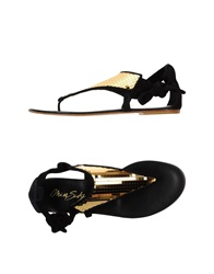 Miss Sixty Thong Sandals Black