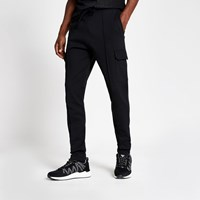 River Island Black Slim Fit Utility Joggers