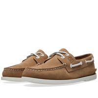 Sperry Topsider Authentic Original 2 Eye Suede Tan