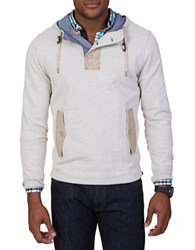 Nautica Mixed Media Hooded Pullover White