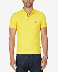 Nautica Men's Slim Fit Performance Deck Polo Empire Gold