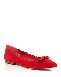 Kate Spade New York Eleni Flex Suede Pointed Toe Flats Red