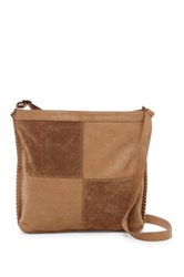 T Shirt And Jeans Whipstitched Crossbody Tote Brown