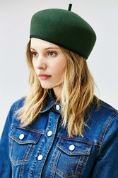 Urban Outfitters Gia Structured Beret Green