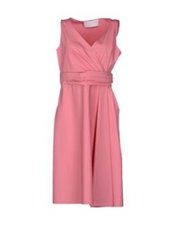 Valentino Techno Couture Knee Length Dresses Pink
