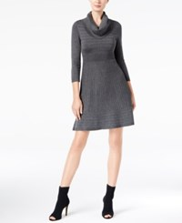 Inc International Concepts Cowl Neck Fit And Flare Sweater Dress Created For Macy's Medium Heather Grey