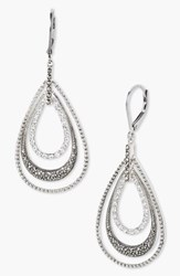 Women's Judith Jack Orbital Triple Teardrop Hoop Earrings