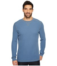 Mod O Doc Seacliff Long Sleeve Crew Thermal Crew Slate Men's Long Sleeve Pullover Metallic
