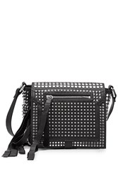 Mcq By Alexander Mcqueen Studded Leather Cross Body Bag Black