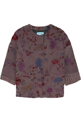 By Walid Embroidered Textured Silk Jacket