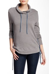 Nation Ltd. Alexis Lace Up Sweatshirt Gray