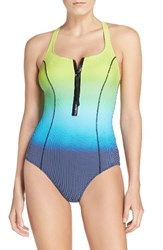 Gottex Women's Profile By One Piece Zip Swimsuit