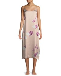 Neiman Marcus Floral Print Silk Nightgown
