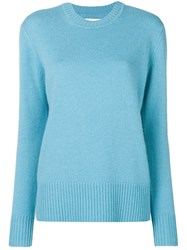 Calvin Klein Long Sleeve Fitted Sweater Blue