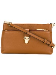 Michael Michael Kors Fold Over Satchel Women Leather Metal One Size Brown