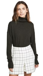 Autumn Cashmere Relaxed Mock Neck Sweater Seaweed