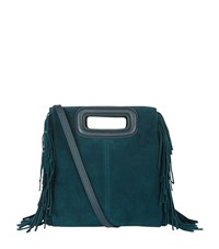 Maje The Suede M Bag Female Teal