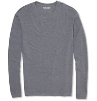 Derek Rose Long Sleeved Stretch Micromodal T Shirt Gray