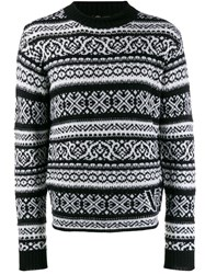 Versace Fair Isle Jumper Black