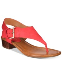 Tommy Hilfiger Kitty Block Heel Sandals Women's Shoes Red