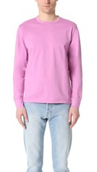 Our Legacy Cuffed Mercerized Long Sleeve Shirt Pink