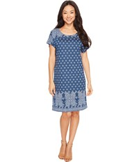 Lucky Brand Tee Dress Navy Multi Women's Dress Blue
