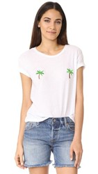Private Party Palm Tree Tee White
