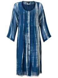 East Annez Shibori Dress Blue