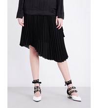 Sharon Wauchob Pleated Asymmetric Chiffon Skirt Black