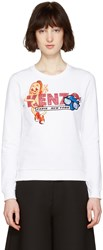 Kenzo White Hot Dog Pullover