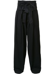 Craig Green Draped Elastic Waistband Trousers Black
