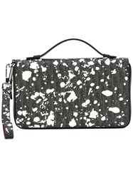 Christian Dior Homme Printed Clutch Bag Black