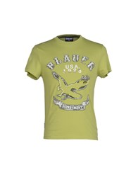 Blauer Topwear T Shirts Men Acid Green