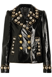 Marc Jacobs Embellished Patent Leather Jacket