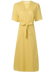 Paul Smith Ps Belted Vichy Dress Yellow