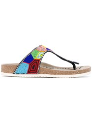 Sam Edelman Olivie Sandals Women Leather Polyester Rubber 7