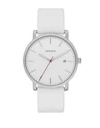 Skagen Hagen Stainless Steel Silicone Strap Watch White