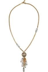Lulu Frost Audrey Tassel Gold And Silver Plated Crystal Necklace