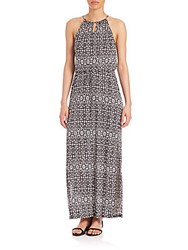 Joie Quinette Printed Maxi Dress Caviar