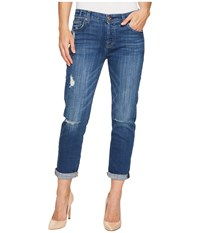 7 For All Mankind Josefina W Destroy In Barrier Reef Broken Twill Barrier Reef Broken Twill Women's Jeans Blue