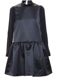 Rochas Full Skirt Dress Black