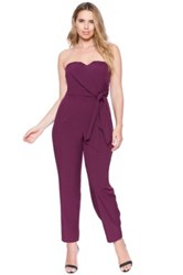 Eloquii Strapless Sweetheart Neck Jumpsuit Plus Size Purple