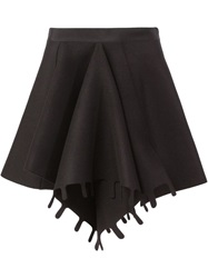 Maison Rabih Kayrouz Front Pleat Skirt Black