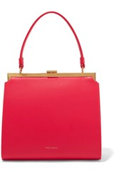 Mansur Gavriel Elegant Leather Tote Red