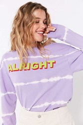 Silence And Noise Alright Tie Dye Long Sleeve Tee Lavender