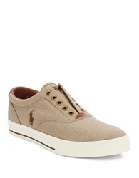 Polo Ralph Lauren Vito Canvas Slip On Sneakers Beige