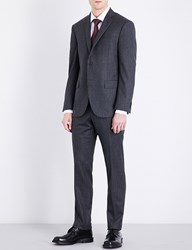 Corneliani Pinstriped Academy Fit Wool Suit Grey