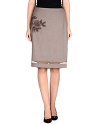Ermanno Scervino Scervino Street Skirts Knee Length Skirts Women Dove Grey