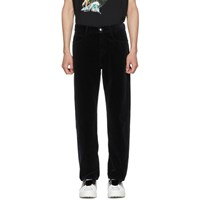 Mcq By Alexander Mcqueen Black Velvet Twisted Trousers