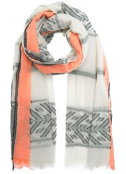 Mint Velvet Ivory Cotton Jacquard Scarf White